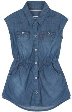 Levi's Toddler Girl Short Sleeve Woven Denim Dress