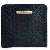 GiGi New York Mini Python-Embossed Leather Bi-Fold Wallet