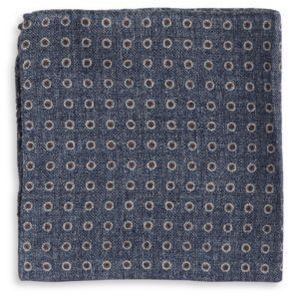 Black & Brown Black Brown Patterned Pocket Square