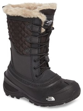 The North Face Girl's Shellista Lace Iii Faux Fur Waterproof Boot