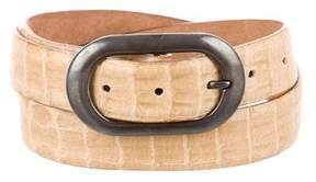 Giorgio Armani Embossed Leather Buckle Belt