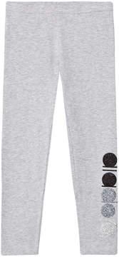Diadora Grey with Glitter Branding Leggings