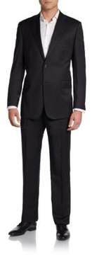 Saks Fifth Avenue BLACK Solid Surge Wool-Blend Suit