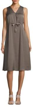 Ellen Tracy Front Tie Wrap Dress