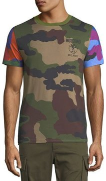 Moschino Multi-Camouflage Cotton T-Shirt