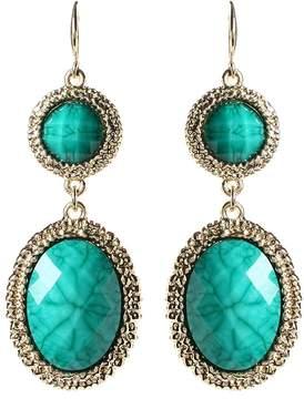 Amrita Singh Turquoise & Goldtone Gabby Drop Earrings