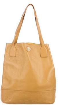 Tory Burch Leather Michelle Tote - BROWN - STYLE