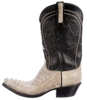 Lucchese Alligator Cowboy Boots