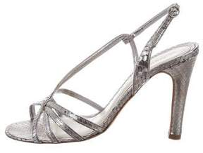 Marc Jacobs Embossed Ankle Strap Sandals