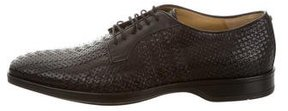 Cesare Paciotti Woven Leather Lace-Up Oxfords