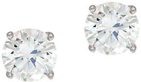 Diamonique As Is 2.00ct. tw. Sterling Round Stud Earrings