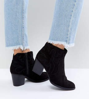 New Look Wide Fit Western Heeled Ankle Boot