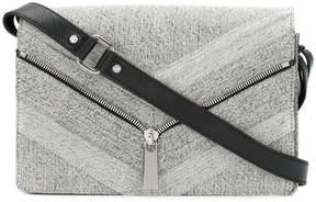 Diesel zip detail denim shoulder bag