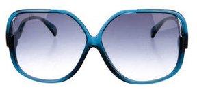 Diane von Furstenberg Gradient Oversized Sunglasses