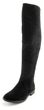 XOXO Trishh 2 Women Round Toe Canvas Black Over The Knee Boot.