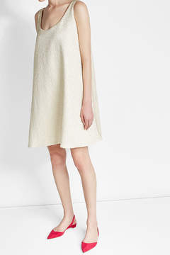 Emilia Wickstead Metallic Dress with Cotton and Silk