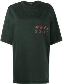 Yeezy Black loose fit logo t shirt