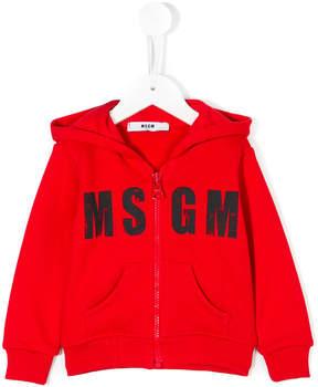MSGM faded logo hoodie
