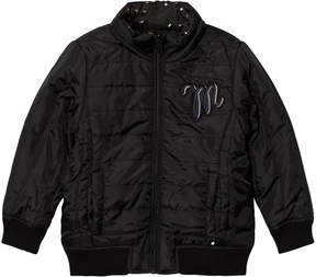 Molo Black Star Print and Plain Hailey Reversible Jacket