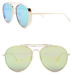 Cat Eye AQS Fox 58mm Aviator Sunglasses