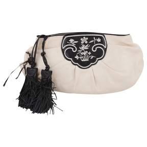 Ermanno Scervino White Leather Clutch Bag