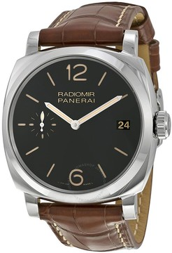 Panerai Radiomir 1940 Black Dial Brown Leather Men's Watch PAM00514