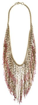 Sequin Beaded Fringe Long Necklace