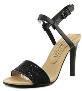 Veronique Branquinho Thea Women Open-toe Leather Black Slingback Sandal.