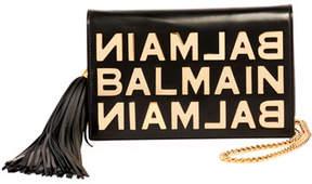 Balmain Logo Glace Cuir Pochette Clutch Bag