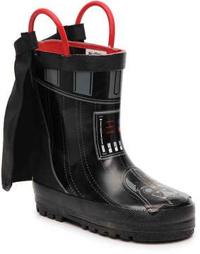 Western Chief Boys Star Wars Darth Vader Toddler & Youth Rain Boot