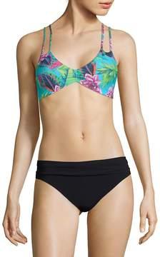 Pilyq Women's Botanical-Print Bikini Top