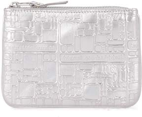 Comme des Garcons Silver Printed Leather Purse