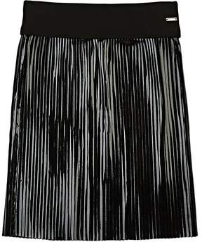 Givenchy Kids' Pleated Coated Jersey Skirt
