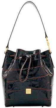 Dooney & Bourke Croco-Embossed Hattie Leather Drawstring Bag