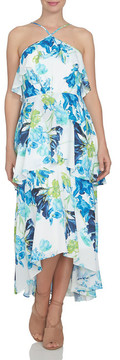 CeCe Floral Ruffle Tier High/Low Dress