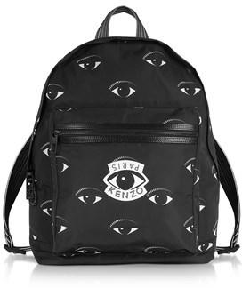 Kenzo Men's Black Fabric Backpack.