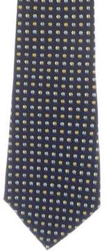 Salvatore Ferragamo Silk Beach Ball Print Tie