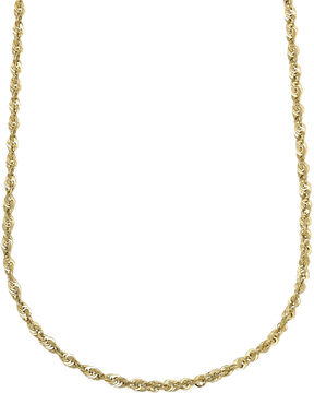 JCPenney FINE JEWELRY 10K Yellow Gold Hollow 18 Rope Chain