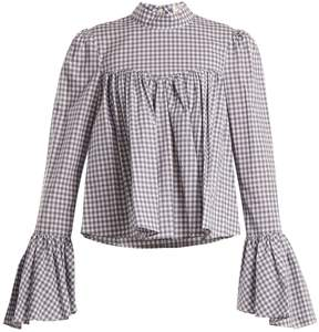 Caroline Constas James gingham cotton blouse
