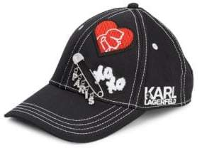 Karl Lagerfeld Cotton Patches Baseball Cap