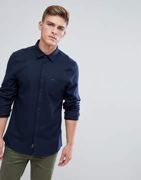 Jack Wills Somerby Regular Fit Textured Flannel Shirt In Navy