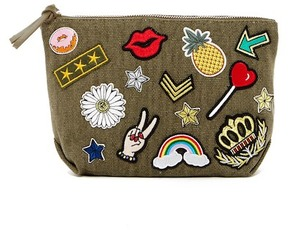 Steve Madden Regina Patched Canvas Pouch