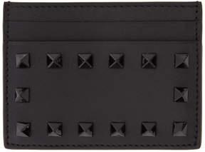 Valentino Black Garavani Tonal Rockstud Card Holder