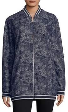 T Tahari Gale Floral Bomber Jacket