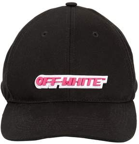 Off-White Logo Patch Canvas Baseball Hat