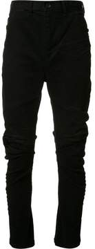 Julius distressed panelled trousers