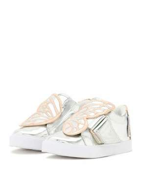 Sophia Webster Bibi Butterfly Low-Top Sneaker, Silver/Multi, Toddler/Youth