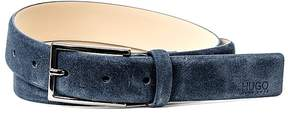 HUGO BOSS Gavrillo Suede Belt with Gunmetal Buckle