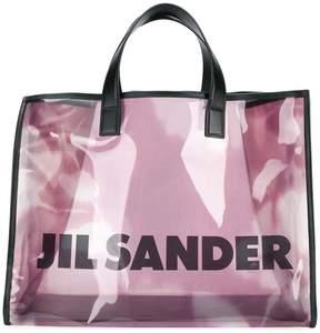 Jil Sander sheer logo tote