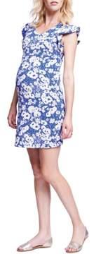 Maternal America Flutter Sleeve Maternity Dress